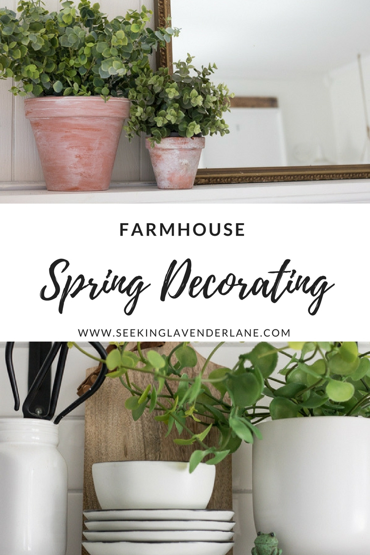 farmhouse spring decorating