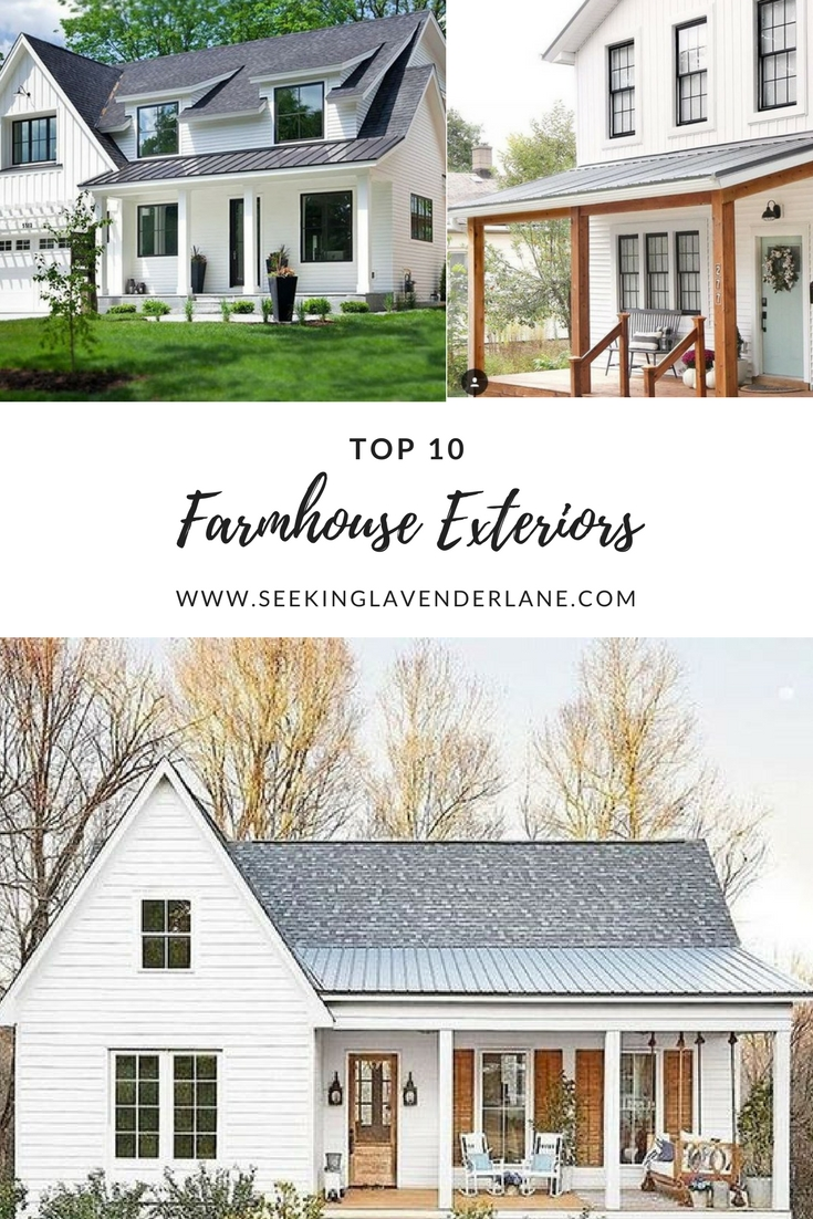 Top 10 White Farmhouse Exteriors Seeking Lavendar Lane