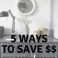 5 Ways to Save Money on a Room Makeover