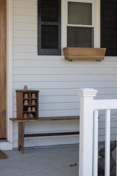bare porch needs spring decor