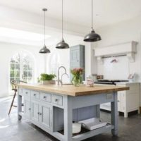 Non-White Farmhouse Kitchens
