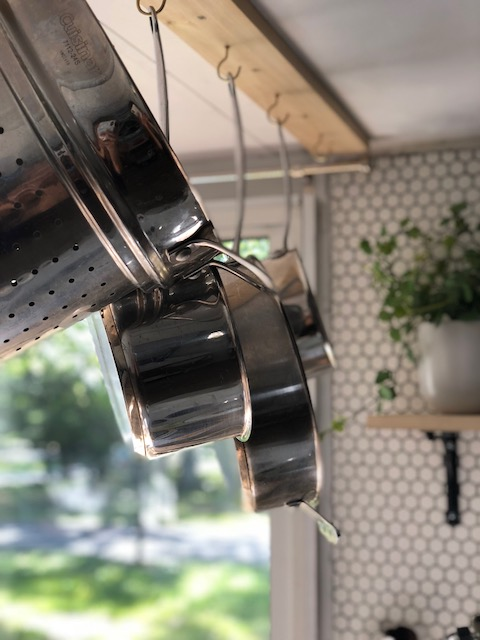 pot rack DIY for the RV