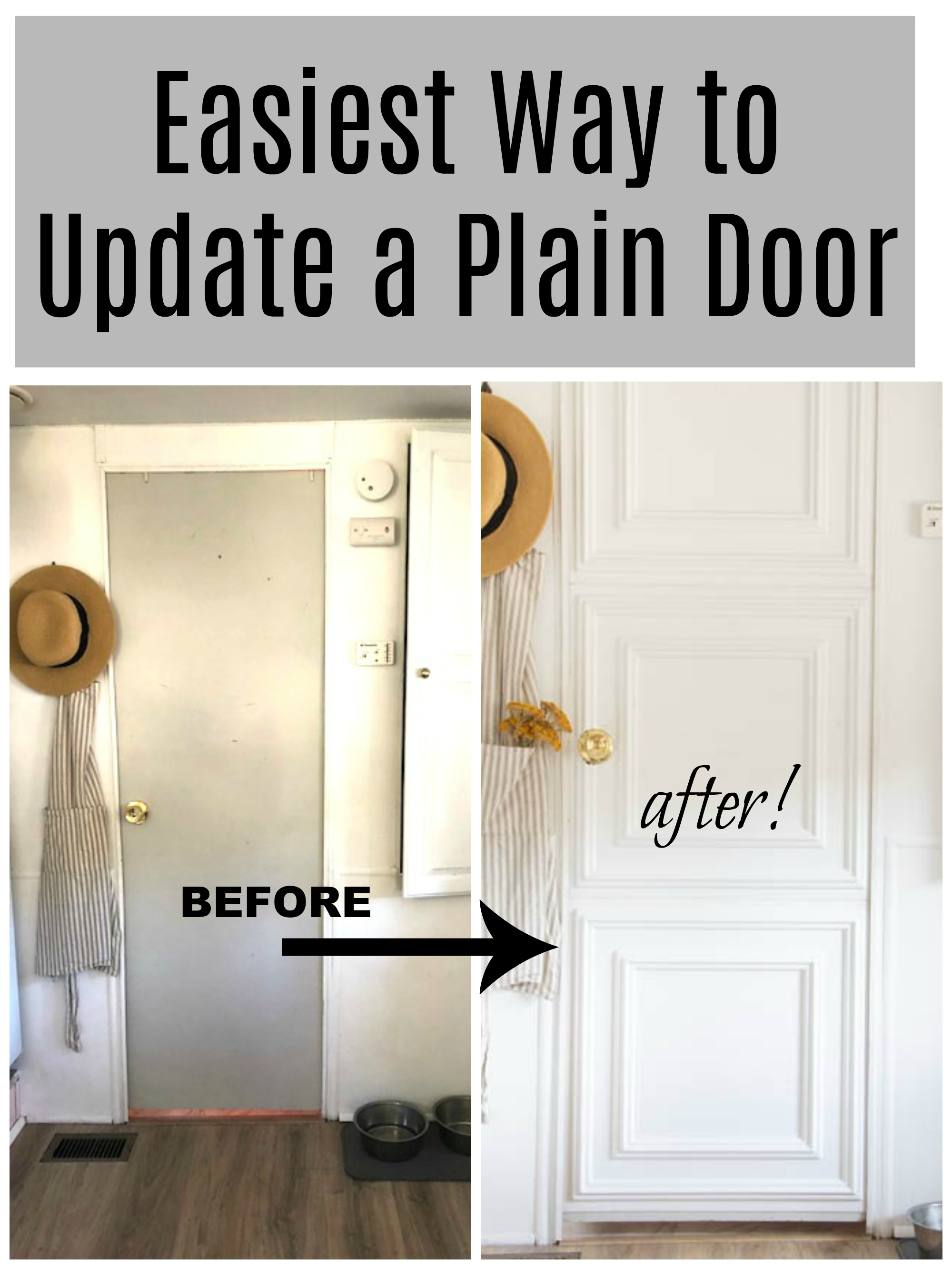 easiest way to update a plain door