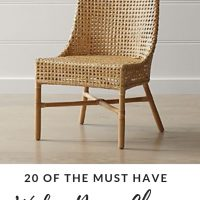 wicker dining chairs