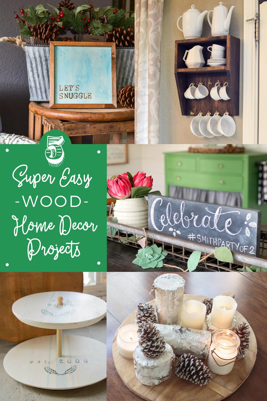 5 Super Easy Wood Home Decor Projects Seeking Lavendar Lane