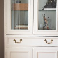 White Chalk Paint Cabinet