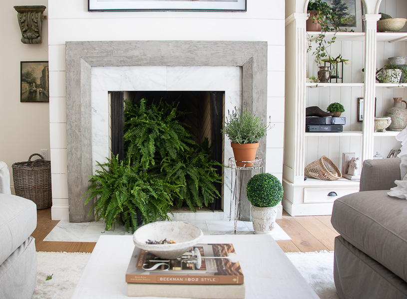 Welcome Home Sunday: Easy Summer Fireplace Decor