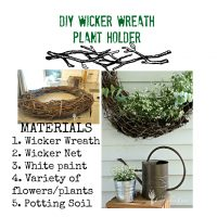 DIY Wicker Wreath Plant Holder
