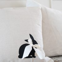 Bunny Silhouette Pillow for Easter